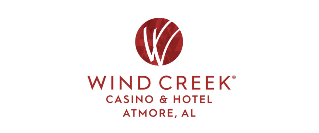 Logo for Windcreek Casino & Hotel in Atmore Alabama.